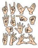 Handzeichen-Set Lizenzfreies Stockbild