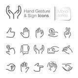 Handzeichen- u. Zeichenikonen vektor abbildung