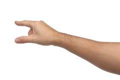 Handzeichen Zeigen oder etwas berührend Lizenzfreie Stockbilder