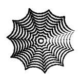 Handzeichenillustration des Spinnennetzes Stockfotografie
