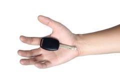 Handzeichenlagegriff-Autoschlüssel lokalisiert Lizenzfreies Stockbild