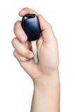 Handzeichenlagegriff-Autoschlüssel lokalisiert Lizenzfreies Stockfoto