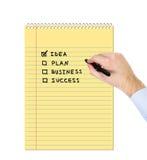 Handzeichnen businessplan Lizenzfreies Stockfoto
