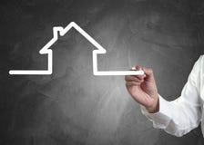 Handzeichnung Haus lizenzfreies stockfoto
