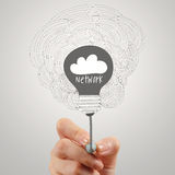 Handzeichnung Wolkennetz Lizenzfreies Stockfoto