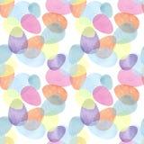 Handzeichnungs-Bürste Illustration von colorfull Eiern mit Aquarellen Entwurf für Papier, Gewebe, Hintergrund, Karte Muster nahtl stock abbildung
