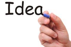 Handzeichnungs-Ideenwort Stockbild