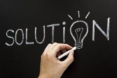 Handzeichnungs-Lösungs-Konzept Stockbilder