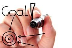 Handzeichnungs-Zielwort Stockfotografie
