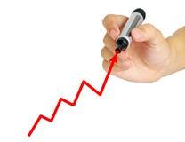 Handzeichnungsdiagramm Stockfotos