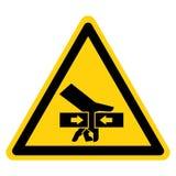 Handzerstampfungs-Kraft vom zwei Seiten-Symbol-Zeichen-Isolat auf weißem Hintergrund, Vektor-Illustration stock abbildung