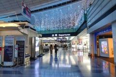 Haneda flygplats, Japan - Tokyo internationell flygplats Arkivbild