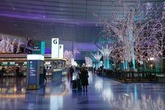 Haneda flygplats, Japan - Tokyo internationell flygplats Royaltyfri Fotografi