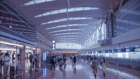 Haneda flygplats, Tokyo Arkivbild