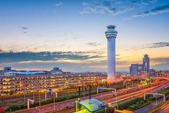 Haneda flygplats Tokyo royaltyfria foton