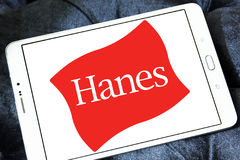 32e723ab8 Hanes logo. Logo of fashion company Hanes on samsung tablet royalty free  stock images
