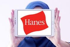 Hanes logo. Logo of fashion company Hanes on samsung tablet holded by arab muslim woman stock photography