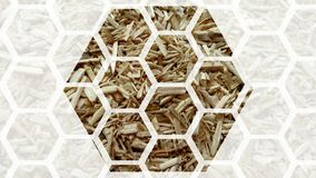 Hanf-Bienenwabe stock abbildung