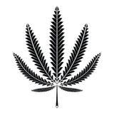 Hanf-Marihuana-Blatt lizenzfreie abbildung