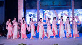 Hanfu舞蹈--打开的展示 库存照片
