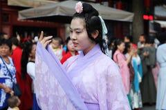 Hanfu chino del desgaste de mujeres Imagen de archivo libre de regalías