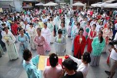 Hanfu chino del desgaste de mujeres Fotografía de archivo libre de regalías