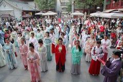 Hanfu chino del desgaste de mujeres Foto de archivo