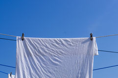 Hang a clothes to dry Royalty Free Stock Photos