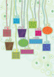 Hang Colorful Gifts_eps. Illustration of colorful gifts with bottom space Stock Image