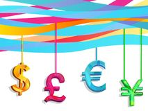 Hang currency Royalty Free Stock Images