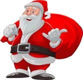 Hang de losse Kerstman stock illustratie