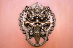 Hang door knocker metal Stock Image