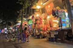 Hang Gai Silk shoppinggata Hanoi Vietnam Fotografering för Bildbyråer