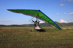 Hang-glider. On a background mountains Stock Images