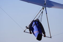 Hang glider. Against blue sky royalty free stock photography