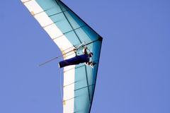 Hang glider. Against blue sky royalty free stock images