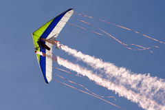 Hang glider. A hang glider performs at an airshow royalty free stock photo