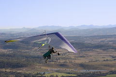 Hang-glider. A hang-glider down under Royalty Free Stock Images