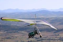 Hang-glider. A hang-glider down under Royalty Free Stock Image