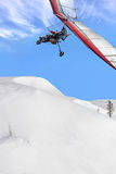 Hang glider above mountain Stock Photography
