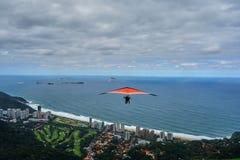 Hang glider. Above Rio de Janeiro, Brazil Stock Images