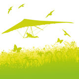 Hang-glider in the air Royalty Free Stock Photography