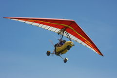 Hang-glider on a background dark  sky Stock Photos