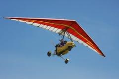 Hang-glider on a background dark  sky. Hang-glider on a background dark blue sky Stock Photos