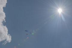 Hang glider in the blue sky Stock Photography