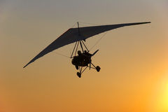 Hang glider flight Royalty Free Stock Photo