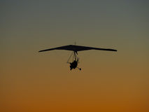 Hang glider flight Stock Images