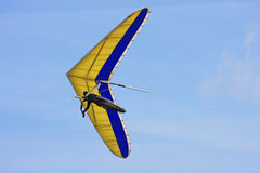 Hang Glider flying Stock Photo
