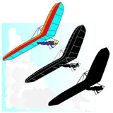 Hang Glider flying vector Royalty Free Stock Photo