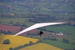 Hang glider flying Stock Image